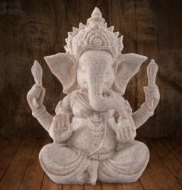 Ganesha Beeldje-Natuurlijke Zandsteen