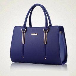 Mooie Modieuze Blauwe Dames Tas