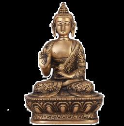 Messing Boeddha-idool, 17 cm (Brons)