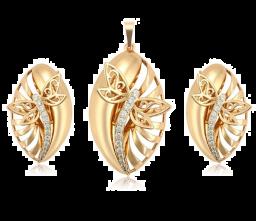 Vergulde Prachtige Sieraden Sets Voor Vrouwen