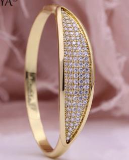 Luxe armbanden Micro-wax inleg ronde natuurlijke zirkoon armbanden