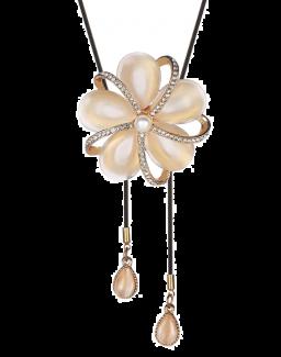 Lange ketting ketting kristallen bloem hanger kettingen voor vrouwen