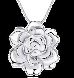 925 Zilveren Ketting Grote Lotusbloem Hangers En Kettingen Sieraden