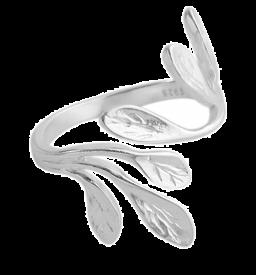 925 sterling zilveren verstelbare olijfbladringen voor vrouwen
