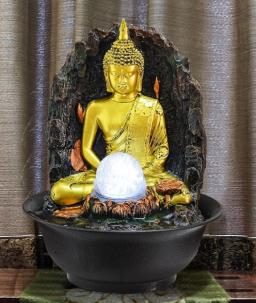 Hars Boeddhabeeld Indoor Water Fonteinen Woondecoratie