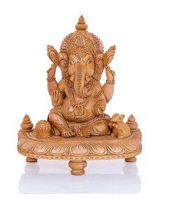 Hout Ganesha Beeldje