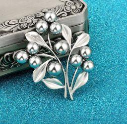 Bos van bloem grijze parel broches vrouwen sieraden accessoires