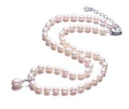 Hoge kwaliteit natuurlijke zoetwaterparels kralen sieraden, wit