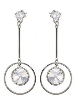 Ronde oorbellen kristallen van Swarovski voor dames