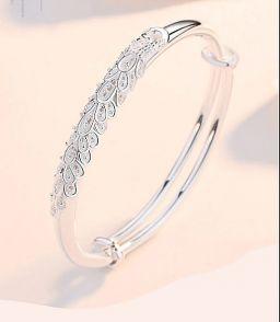 925 sterling zilveren armband voor vrouwen sieraden verstelbare pauw armbanden