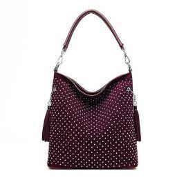 Zachte lederen handtassen Crossbody tas met hoge capaciteit voor dames