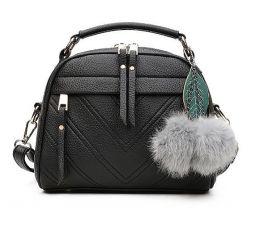 PU lederen klein handtas voor dames meisjes handtassen zwart
