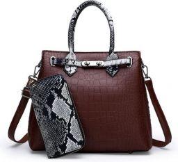 Damestas luxe hoogwaardige klassieke krokodil patroon handtas + extra portemonnee