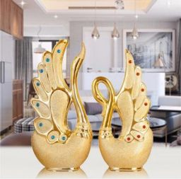 Nieuwe keramische zwanen decoratieve geschenken