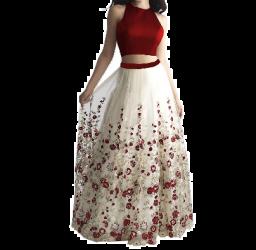 Lehenga Choli met bloemenmotief voor dames