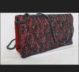 Handgemaakte schoudertas Dames Tassen - Rood  (14x25x5 cm)